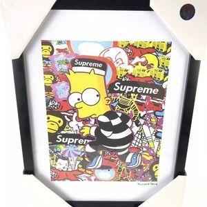 Supreme x Bart Simpson Fairchild Paris 14x18